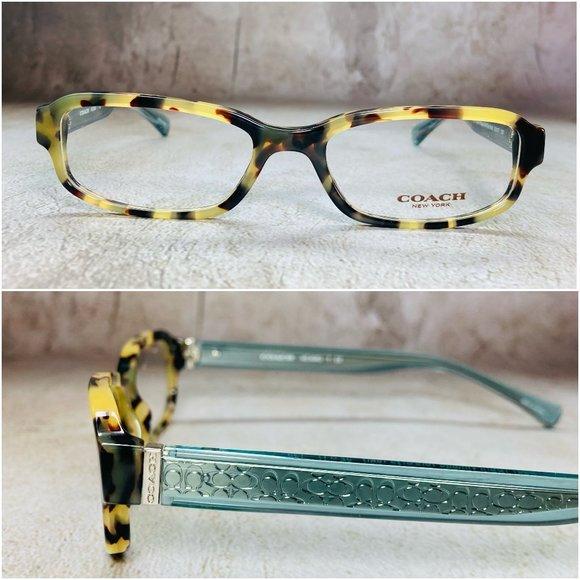 Coach Rectangular Tortoise Eyeglasses Frames NWOT